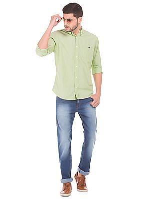 Aeropostale Button Down Collar Solid Shirt