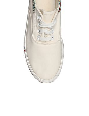 SUGR Printed Panel Canvas Sneakers