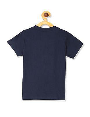 Cherokee Blue Boys Printed Crew Neck T-Shirt