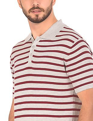 Ruggers Short Sleeve Striped Polo Shirt