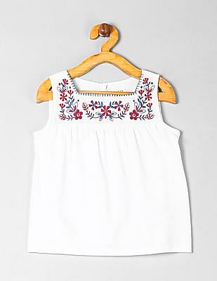 GAP Girls Embroidered Tank Top