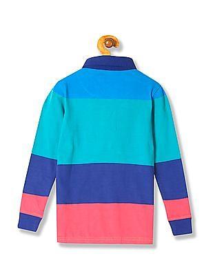 U.S. Polo Assn. Kids Boys Long Sleeve Stripe Polo Shirt