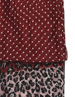 SUGR Red Polka Dot Print Stole