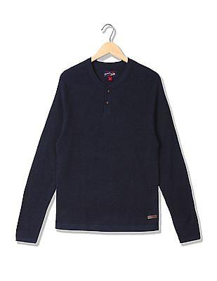 U.S. Polo Assn. Denim Co. Standard Fit Henley Neck Sweater