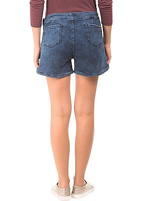 EdHardy Women Washed Skinny Fit Denim Shorts