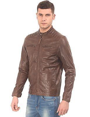U.S. Polo Assn. Denim Co. Leather Biker Jacket