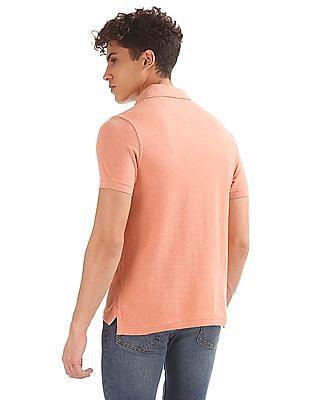 U.S. Polo Assn. Denim Co. Heathered Muscle Fit Polo Shirt