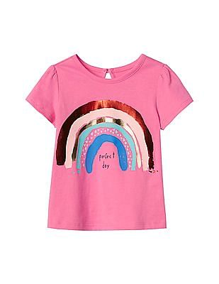 GAP Baby Pink Perfect Day Keyhole Top