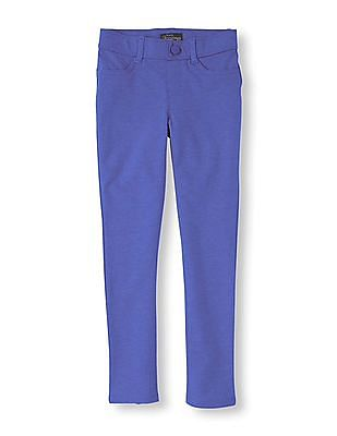The Children's Place Girls Solid Knitted Jeggings