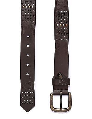 Flying Machine Studded Leather Belt