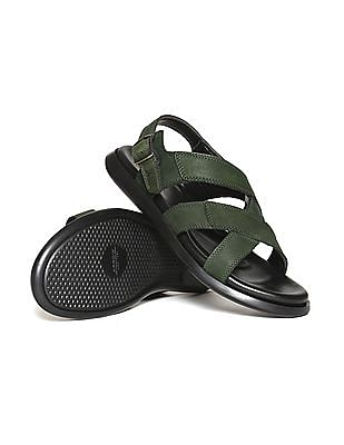 Arrow Cross Strap Leather Sandals