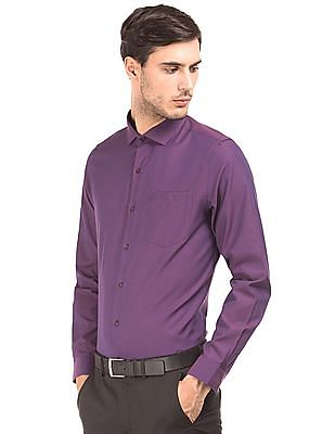 Excalibur French Placket Textured Shirt
