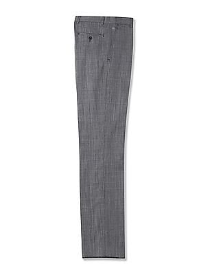Arrow Regular Fit Patterned Weave Trousers