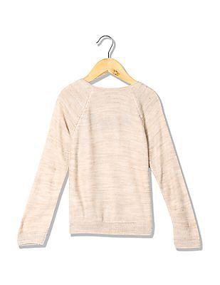 Cherokee Girls Long Sleeves Solid Sweater