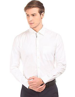 Arvind Jacquard Slim Fit Shirt