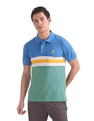 475b261426e U.S. Polo Assn. Regular Fit Colour Block Polo Shirt. SHOP NNNOW