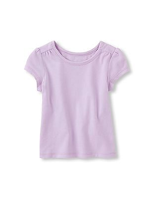 The Children's Place Toddler Girl Purple Short Sleeve Basic Tee