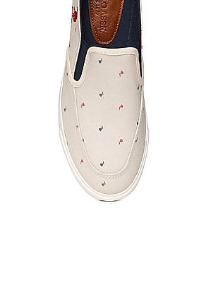 U.S. Polo Assn. Printed Canvas Slip On Shoes