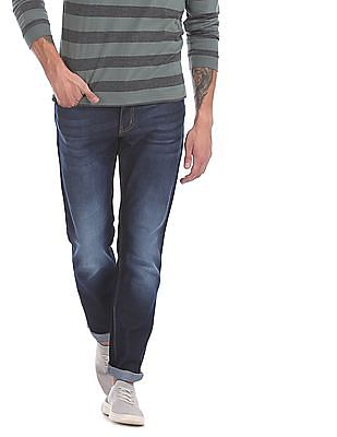 Newport Blue Straight Fit Stone Wash Jeans