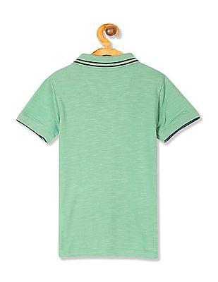 Cherokee Boys Short Sleeve Tipped Polo Shirt