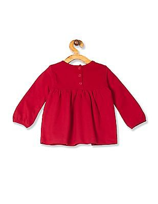 Colt Red Girls Minnie Mouse Print Knit Tunic