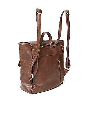 Cherokee Flap Closure Textured Backpack
