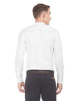 Elitus Mandarin Collar Slim Fit Shirt
