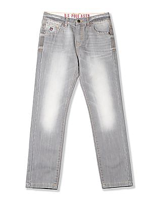 U.S. Polo Assn. Kids Boys Mid Rise Whiskered Jeans