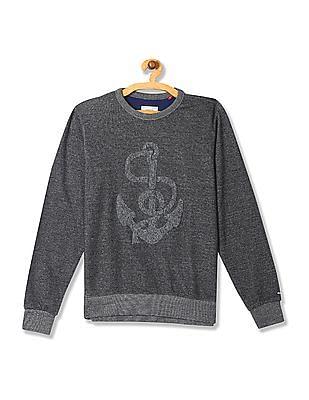 Arrow Sports Regular Fit Applique Sweatshirt