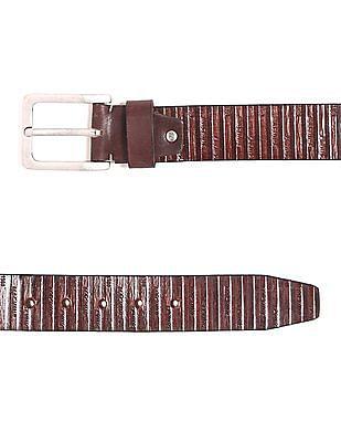 Flying Machine Brand Debossed Leather Belt