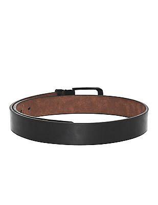 Colt Black Solid Metallic Buckle Belt