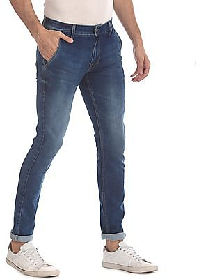 Flying Machine Blue Jackson Skinny Fit Stone Wash Jeans