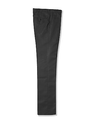 Arrow Newyork Patterned Flat Front Trouser