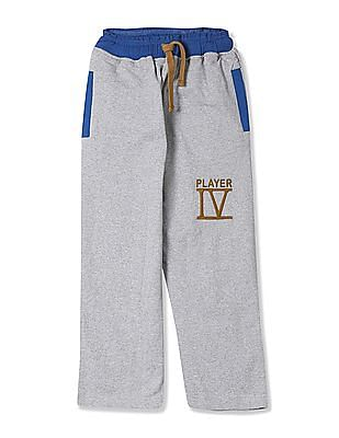 U.S. Polo Assn. Kids Boys Ribbed Waist Heathered Track Pants