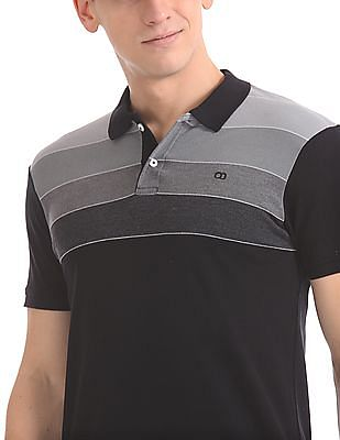 Roots by Ruggers Cotton Striped Polo Shirt