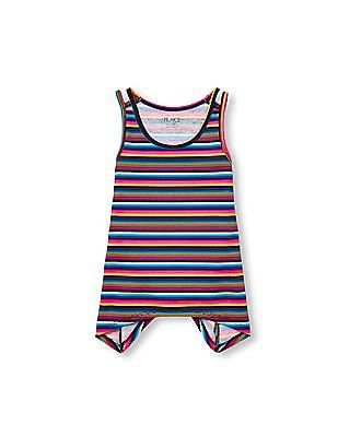The Children's Place Girls Matchables Sleeveless Printed Shark-Bite Top