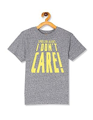 The Children's Place Boys Grey Short Sleeve 'I Don't Care' Graphic Tee