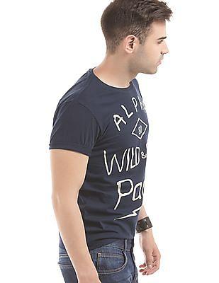 Flying Machine Regular Fit Script Print T-Shirt