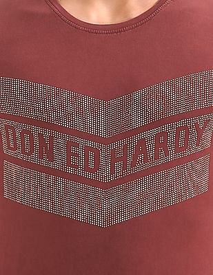 Ed Hardy Studded Front Washed T-Shirt