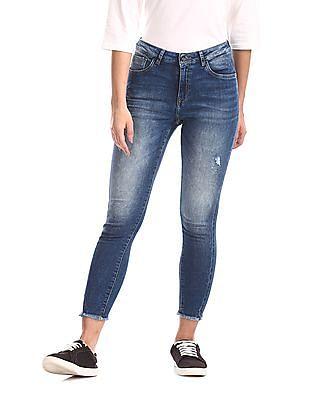 U.S. Polo Assn. Women Blue Super Skinny Fit High Rise Jeans