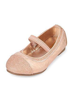 wholesale dealer 20f78 1fb98 The Children s Place Toddler Girl Sparkle Toe Ballet Shoes