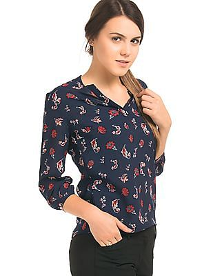 Arrow Woman Floral Print Woven Top
