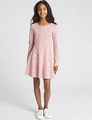 GAP Girls Print Fit and Flare Dress