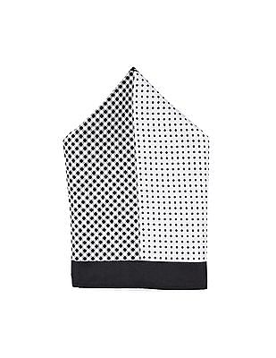 Arrow Off White And Black Printed Pocket Square