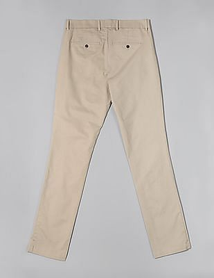 GAP Beige Modern Khakis In Slim Fit With GapFlex