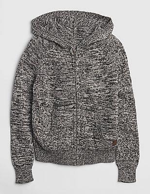 GAP Boys Marled Hoodie Sweater