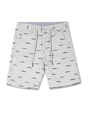 Cherokee Boys Printed Drawstring Waist Shorts