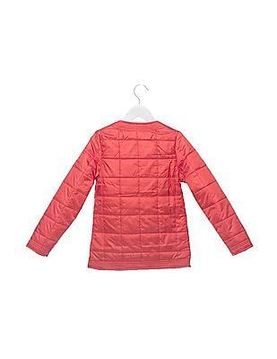 U.S. Polo Assn. Kids Girls Zipper Quilted Jacket