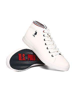 Buy MenHigh Ankle Textured Sneakers