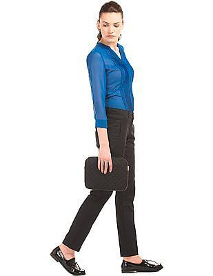Arrow Woman Cotton Stretch Slim Fit Trousers